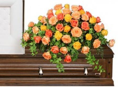 Sympathy Rose Casket Cover