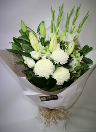White Beauty Oriental Lily Bouquet